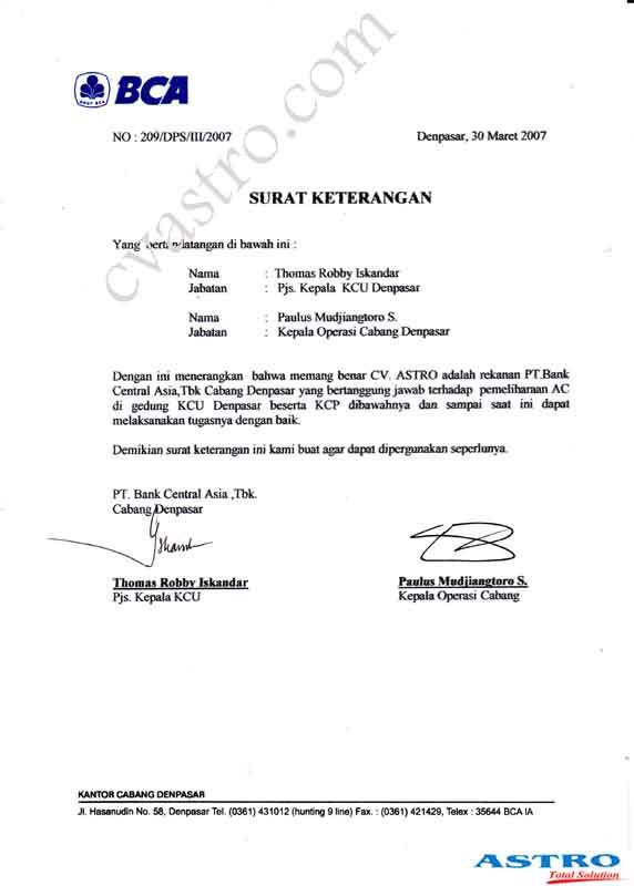 contoh surat referensi bank