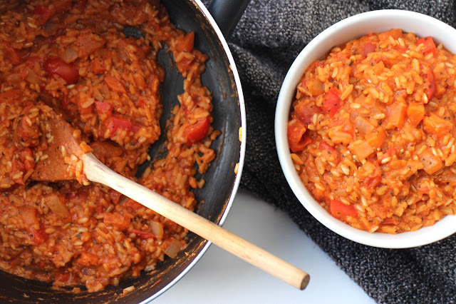 Vegan Tomato and Red Pepper Risotto
