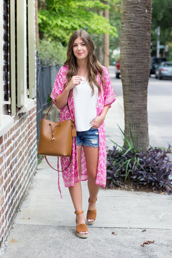 Forever 21 Pink Kimono | Chasing Cinderella