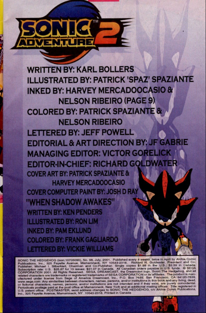 Read online Sonic The Hedgehog comic -  Issue #98 - 2