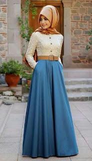 Model Baju Muslim Brokat 2016 Keluaran Terbaru