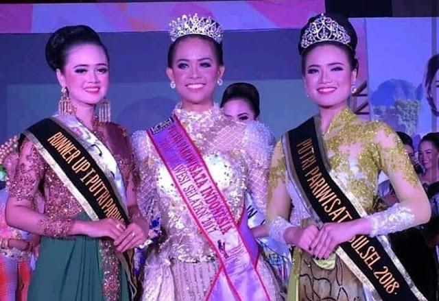 [Foto] Toraja Utara Sabet Putri Parawisata Sulsel 2018