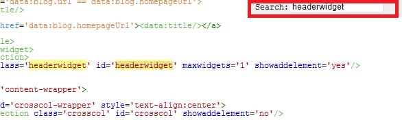 cara mencari kode di EDIT HTML BLOGSPOT TAMPILAN BARU