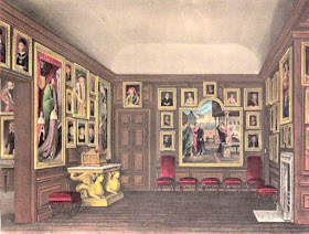 The Queen's Dining Room, Kensington Palace, from The History  of the Royal Residences by WH Pyne (1819)