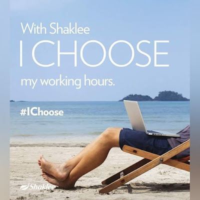 With Shaklee, I choose my working hours