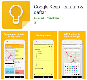 Aplikasi Catatan Praktis Google Keep