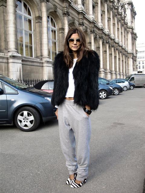 athleisure street style, sweatpants street style