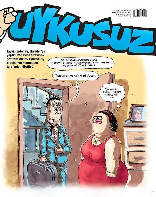 Uykusuz Dergisi - 11 Şubat 2016 Kapak Karikatürü
