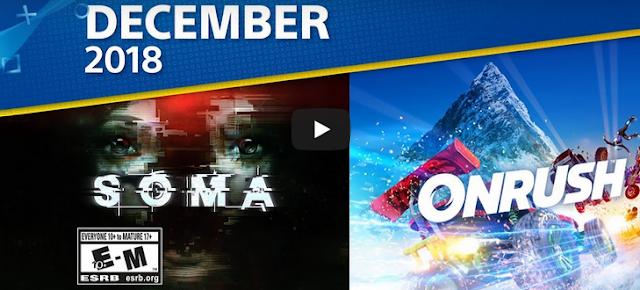تعرف على الألعاب المجانية على PlayStation Plus لشهر ديسمبر على SOMA و Onrush