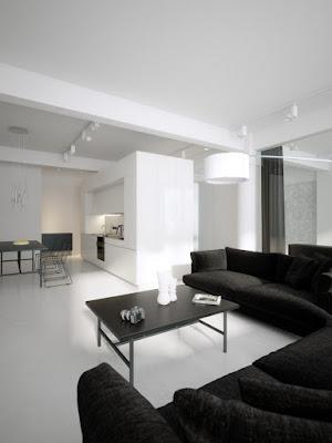 decoração preto e branco simples