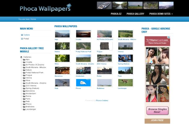 Free Joomla Photos Share Wallpapers Gallery Theme Free Css