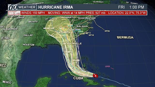 Path of Irma