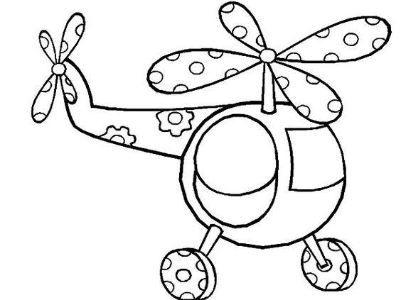 Tranh tô màu máy bay trực thăng chấm bi