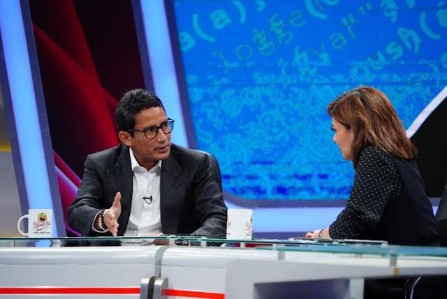 Penampilan Kalem dan Santun, Sandi Tumbangkan 8 'Serangan' Najwa Shihab