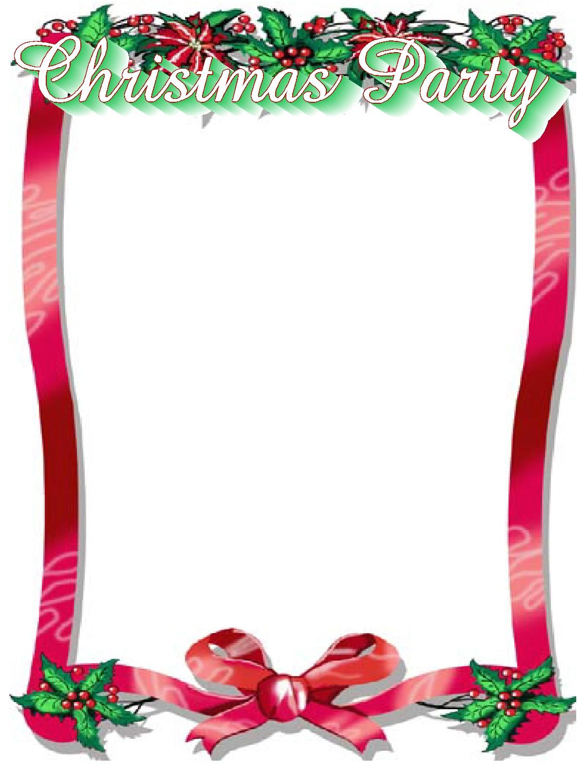 christmas party border