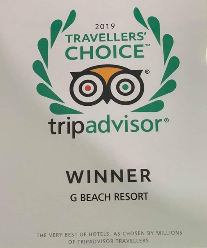 """""""2019 Travelers' Choice Awards"""" to G Beach Resort"""