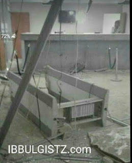 Picture of Uba bank destroyed by robbers lapai