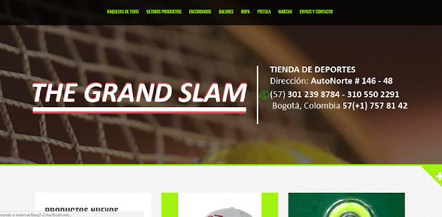 the grand slam tienda deportiva