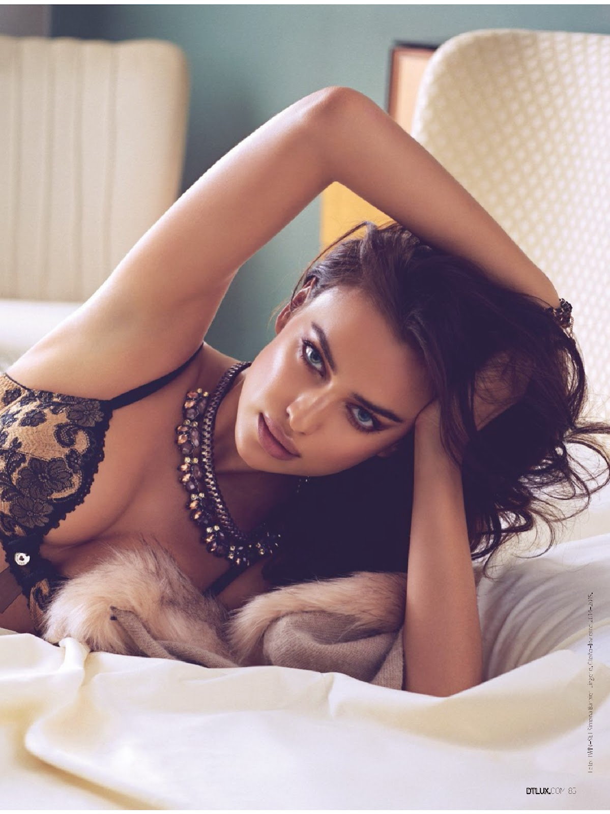Irina Shayk poses in sultry lingerie looks for DT Spain November 2014