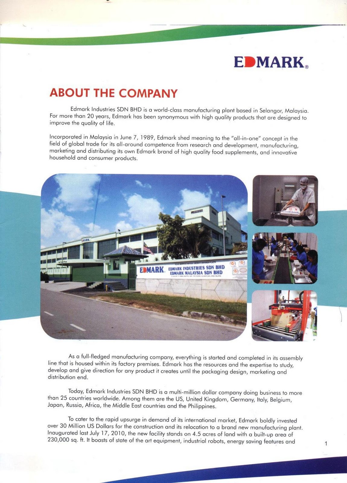 Edmark International: EDMARK INTERNATIONAL