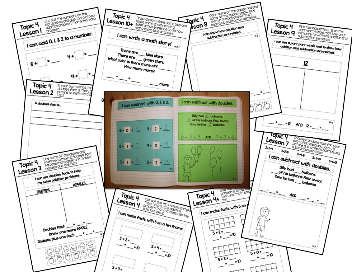 Mr First Grade Envision Math Journals