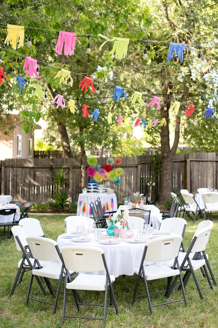 Tissue paper party decorations