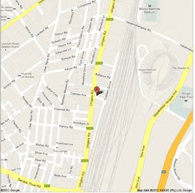 Google Map to artSPACE durban