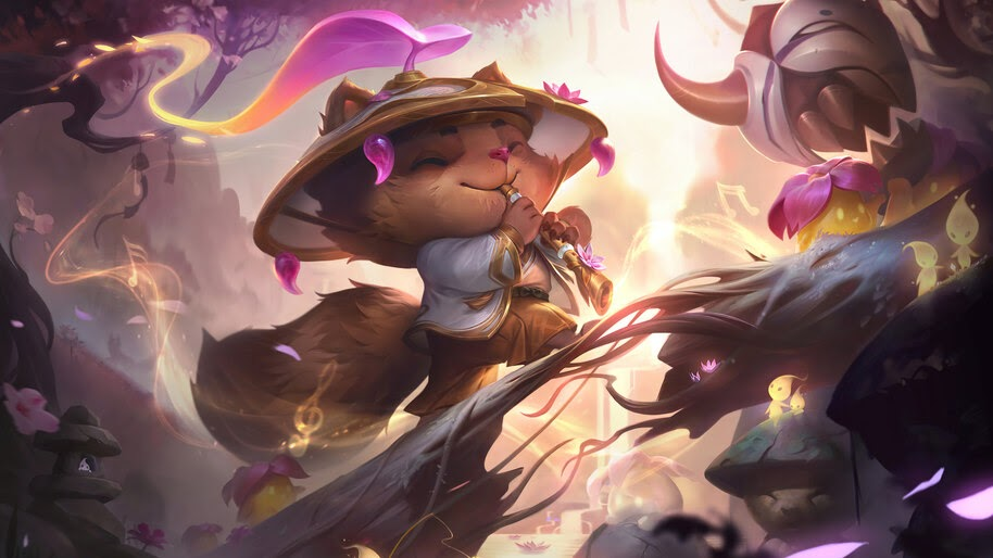 Spirit Blossom, Teemo, Prestige, LoL, Splash Art, 8K, #3.2283