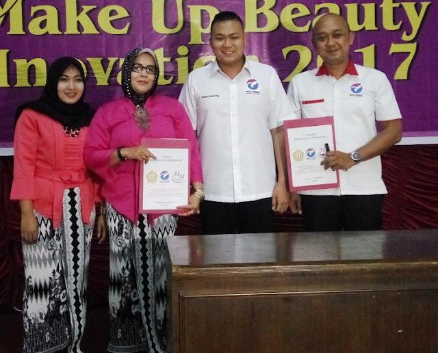 LKP Harpi Melati & DPD Perindo Langkat Teken MoU : Gebyar Seminar Trend Make Up Beauty Cham Inovation 2017 Digelar