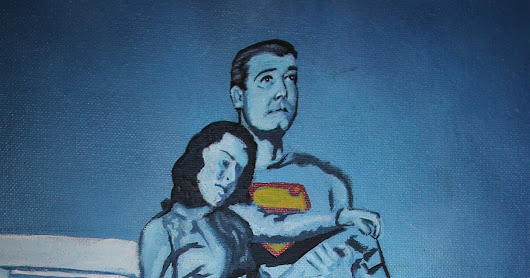 Superman in Blue iCONS Canvas Painting