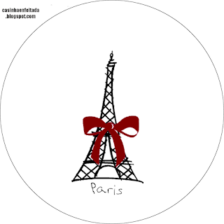 Paris in Red and Black: Free Printable Wedding Kit.