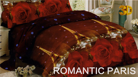 Sprei Red Rose Romantic Paris