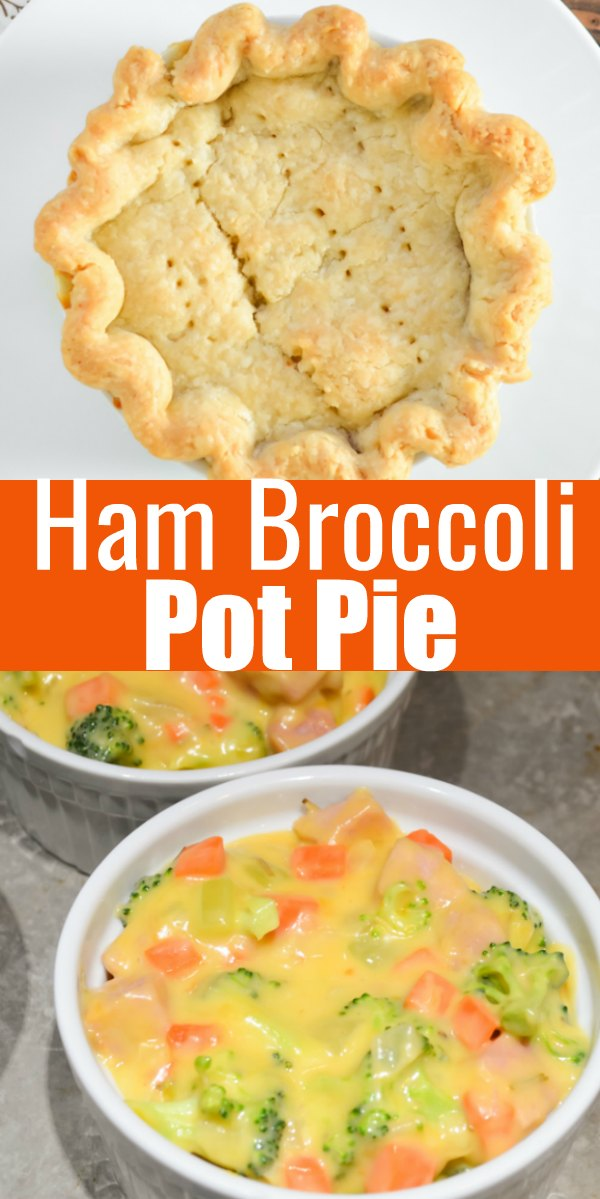 Ham Pot Pie recipe filled with cheese, broccoli, and veggies is a great use for leftover ham from Serena Bakes Simply From Scratch.