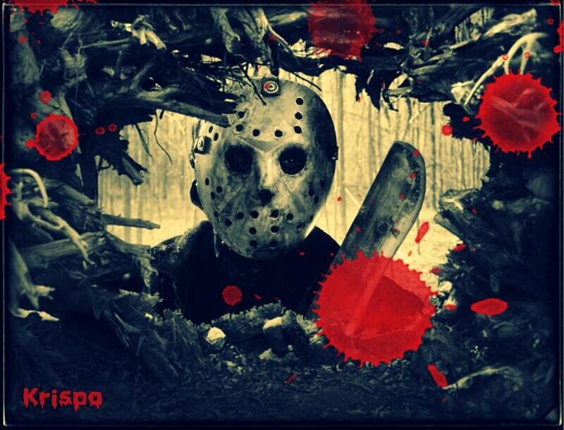 Jason de Viernes 13 con máscara y machete