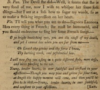 La cameriera astuta libretto english