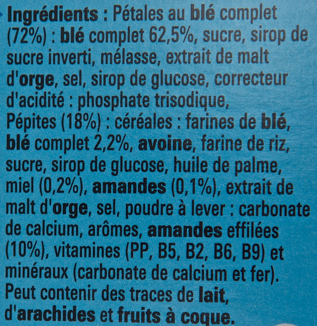 Céréales Clusters Amandes - Nestlé - Clusters - Amande - Breakfast - Almond - Cereals - Clusters - Breakfast cereals - food - ingrédients - Clusters ingredients