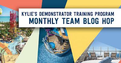 Kylie's Demonstrator Training Program Monthly Team Blog Hop Banner