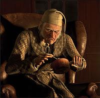 El tío Scrooge, de Un cuento de navidad, de Charles Dickens