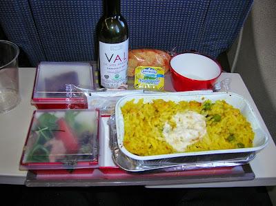 Comida A340 de Iberia, viaje a Panamá, round the world, La vuelta al mundo de Asun y Ricardo, mundoporlibre.com