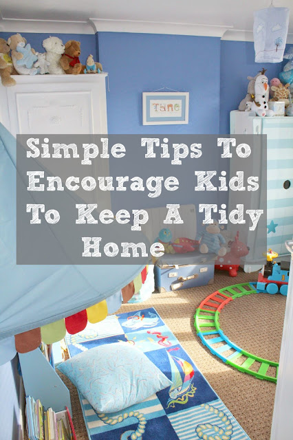 How to encourage kids to keep a tidy home