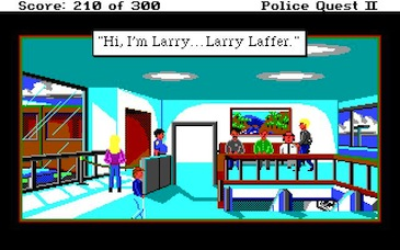 Larry in Police Quest II: The Vengeance (1988)