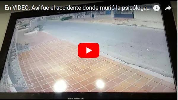 Vídeo muestra el vehículo que mató a la psicóloga en el Zulia