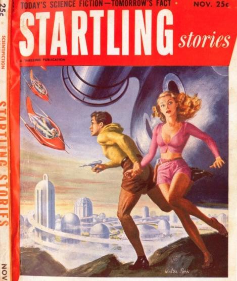 Pulp sci-fi magazine cover