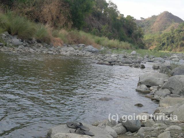 Traversing Canding River