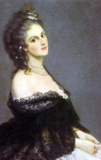 This portrait of Virginia Oldoini was painted in 1862 by Michele Gordigiani