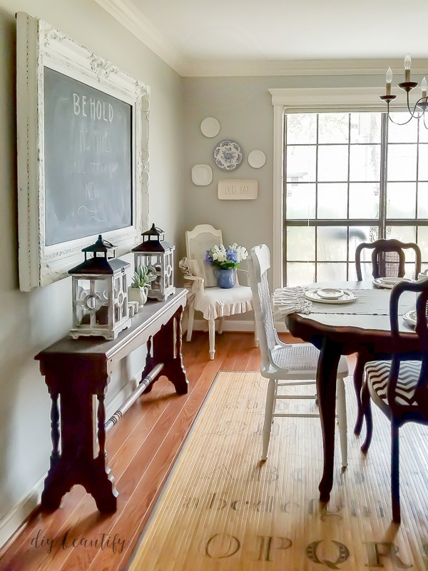 white chalkboard at DIY beautify