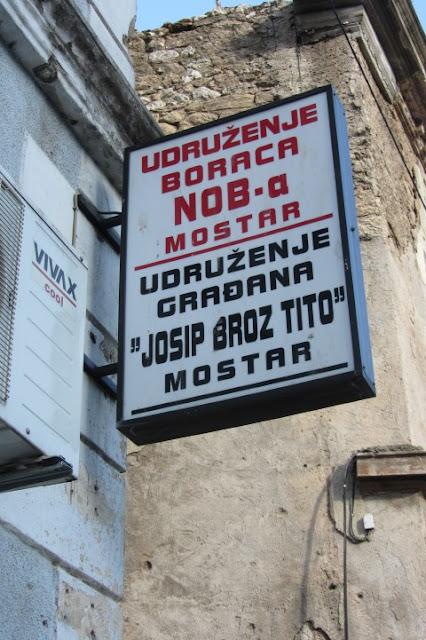 Mostar, herinnering aan Tito