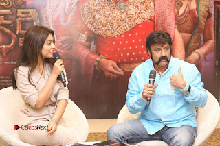 Shriya Saran Nandamuri Balakrishna at Gautamiputra Satakarni Team Press Meet Stills  0175.JPG