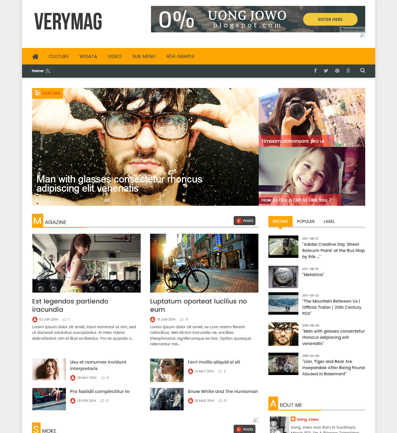 Free Download Template Blogger Verymag Responsive Magazine