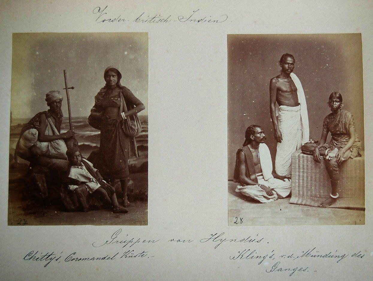 Undated Studio Photograph of Indian Men, Women and Children